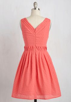Gotta Go-Getter Dress. You have boundless energy, excitement, and passion for fashion - which is why you cant get enough of this coral dress! #coral #modcloth