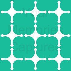 Phi mu ....Pointed Quatrefoil Reusable Stencil - for fabric, wood, paper, canvas, walls - 11x11. $35.00, via Etsy.