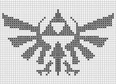 Zelda Triforce knitting scheme | I am asking my mother to kn… | Flickr