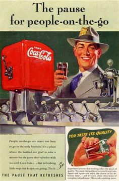 Coca-Cola Business Man 1941 - Coca-Cola is more than a brand or a logo. It's a part of American culture - for some people attitude to life and lifestyle. The Mad Men Art Collection presents more than 200 vintage Coke ads. #CocaCola #Coke #Cola #VintageAds