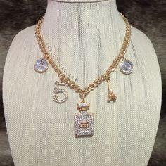 · No 5 Gold Necklace · Designer Inspired Necklace