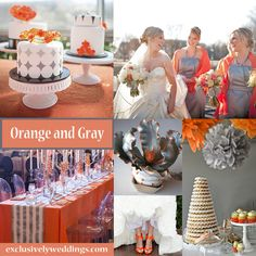 Orange and Gray Wedding Colors | #exclusivelyweddings