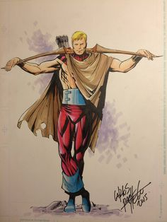Hawkeye, Avengers Forever commission by Carlos Pacheco.