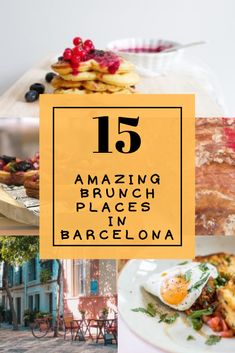 Discover 15 amazing places where you definitely have to eat Brunch or Breakfast in Barcelona. These places were discovered by us during our period of 11 years living in Barcelona. We went to all of them so we can only recommend all these great places for Brunch and Breakfast in Barcelona. Read it now before weekend comes! #funfoodtravelling #brunch #barcelona #travelblog #barcelonafood