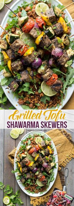 Perfect for Summer grilling, and made easily with Wild Garden's marinade. Vegan Bbq Recipes, Vegan Recepies, Skewer Recipes, Vegan Dinners, Grilling Recipes, Whole Food Recipes, Grilling Tips, Barbecue Recipes, Barbecue Sauce