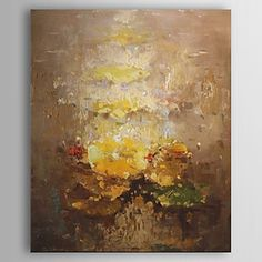 Oil Paintings Abstract Painting with Stretched Frame Ready to Hang Hand-Painted Canvas – USD $ 71.99