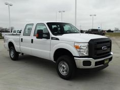 The 2015 Ford F250 in oxford white!