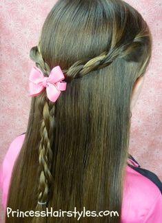 Enjoyable Waterfall Twist Twist Braids And Princess Hairstyles On Pinterest Hairstyles For Women Draintrainus