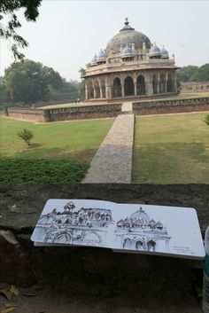 Ink on paper. New delhi. Urban sketch.