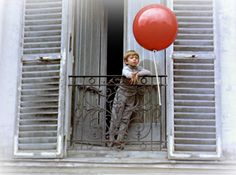 The Red Balloon French Window