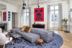 This gorgeous French apartment, by Rodolphe Parente, has a sofa in the middle of the living room. Not something you see every day - but the latest trend in interior...