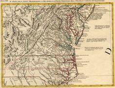 Il Maryland, Il Jersey Meridionale, la Delaware, e la parte orientale della Virginia, e Carolina Settentrionale.