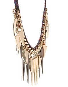 Multi Arrow Spike Necklace