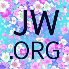 "JW.org (bright blue and pink flowers)"" Stickers by JW Stuff ..."