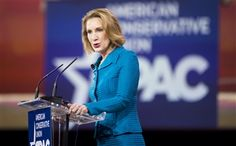 Ex-HP CEO and now GOP hopeful Carly Fiorina holding Hillary Clinton to account at CPAC.