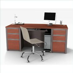 "Connexion executive desk kit in Bordeaux & Slate by bestar. $679.98. Bordeaux & Slate. Connexion is a contemporary and durable collection that features a wide variety of configuration options that will adapt to your specific needs. The desk is made of a durable 1"" commercial grade work surface with melamine finish that resist scratches, sta"