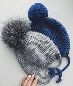 Noch ein Export :)) dieses Paar und noch etwas ... Diy Crafts Knitting, Diy Crafts Crochet, Knitting Blogs, Baby Hats Knitting, Baby Knitting Patterns, Loom Knitting, Knitted Hats, Crochet Hats, Girls Winter Hats