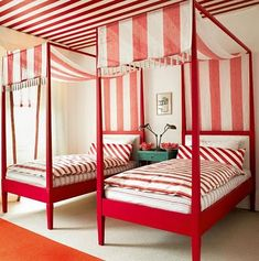 striped bed canopies