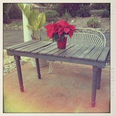 Vintage Pallet Dining Table by RebornRestorationCo on Etsy, $350.00