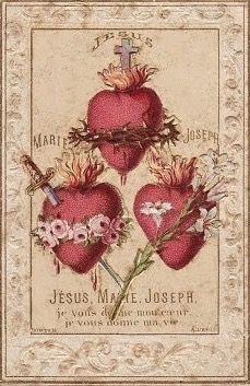 SAGRADOS CORAZONES DE JESÚS, JOSÉ Y MARÍA, EN VOSOTROS CONFIAMOS