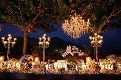 A night glam reception on the Amalfi Coast