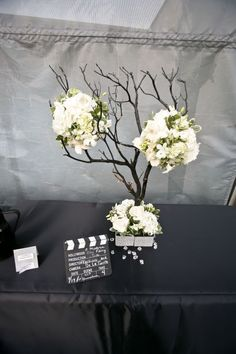 centerpieces-manzanita trees - spray painted different colors - with floral balls Manzanita Tree Centerpieces, Manzanita Branches, Wedding Centerpieces, Bling Wedding, Wedding Bells, Our Wedding, Wedding Ideas, Wedding Stuff, Bling Centerpiece