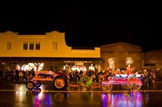 Chelsea Garden Rudolph tractor from Saturday at the Holiday Tractor Parade in Calistoga, California!