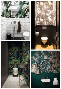 Decorating bathrooms 753578950130969449 - papier peint déco wc Source by nievesjacquin Bathroom Design Small, Bathroom Interior Design, Small Toilet Room, Design Scandinavian, Toilette Design, Masculine Interior, Downstairs Toilet, Wallpaper Decor, Room Decor
