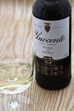 Valdespino Inocente Fino.  Producer: Bodega Valdespino.  Region: Jerez D.O.  Grapes: 100% Palomino.  Alc: 15%  Price: $25 (375ml)  Serve chilled