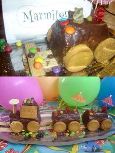 Ingrédients et recette du gâteau train