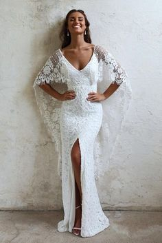Because every girl deserves to have her dream wedding dress, we got you a collection of lace wedding dresses that will definitely blow your mind. These dresses are handmade by Grace Loves Lace. They specialize i Wedding Robe, Boho Wedding Gown, Sheer Wedding Dress, Sexy Wedding Dresses, Bridal Dresses, Lace Wedding, Boho Gown, Dress Lace, Grace Loves Lace