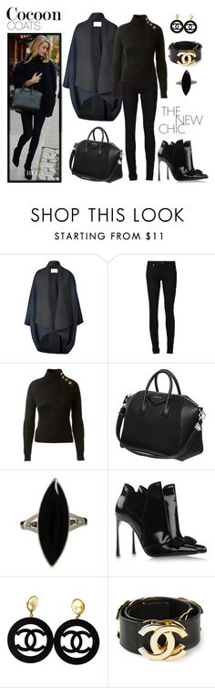 """""""DOH Style 'Hot Trend: Cocoon Coats II'"""" by dohinstyle ❤ liked on Polyvore featuring Vionnet, Yves Saint Laurent, Balmain, Givenchy, ASOS, Sergio Rossi and Chanel"""