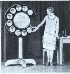 "Four-foot phone dial from 1931 initiated students to ""mysteries of dialing"" - what would they have thought of iphones?"