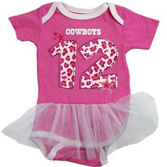 17ec727a7 Dallas Cowboys Pink Tutu Bodysuit. Dallas Cowboys StarLittle CowboyCowboy  OutfitsPink TutuFuture BabyInfantBaby ...