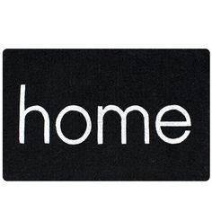 hardtofind.   Home doormat in black www.hardtofind.com.au hard to find monochrome style