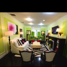 Living room inspired by Fairchild Gardens in Miami by David Bromstad