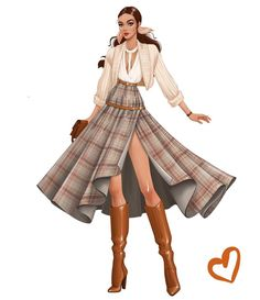 Fall is here! Which means layers, cute fall colours and especially boots! 🧡… Fall is here! Which means layers, cute fall colours and especially boots! Dress Design Drawing, Dress Design Sketches, Fashion Design Sketchbook, Fashion Design Drawings, Fashion Sketches, Art Sketchbook, Fashion Model Drawing, Fashion Drawing Dresses, Fashion Illustration Dresses