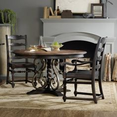Hooker Furniture Treviso 5 Piece Round Dining Table Set