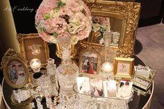 Candy Bar Gold & Pink A&F Wedding