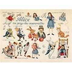 Fiche de broderie Alice aux pays des merveilles CP14 de Lucas Créations chez Univers Broderie