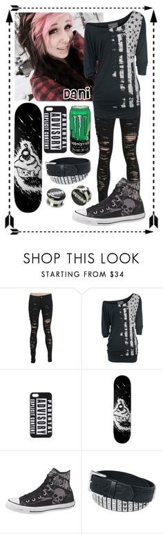 -Polvore family intros- Dani by hiddenshadowxd on Polyvore featuring Rock Rebel, Converse and UNIF