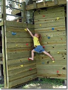 New backyard playground diy for kids climbing wall ideas