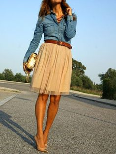 I don't do denim tops but this is pretty.