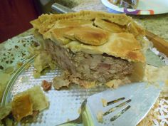 "Vincent Price's Melton Mowbray Pie - pork pie, eaten cold, ""flaky and meaty, perfect picnic food"" with a cold beer... ;-)"
