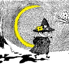 "snufkin — tove jansson ""Everything gets so difficult if you want to own things… Moomin Valley, Tove Jansson, Art Graphique, Children's Book Illustration, Vintage Halloween, All Art, Cover Art, My Idol, Fairy Tales"