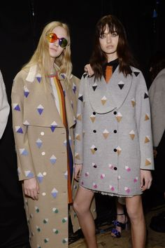 Backstage with Marco De Vincenzo's AW15 #MFW collection.