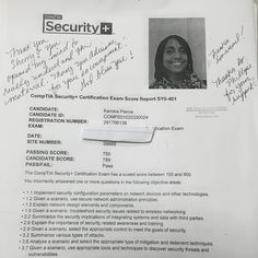 We are proud of our student for passing their sec+ exam. For more information to get certified for Microsoft MCSA, CompTIA A+, Network+, Security+ and Cisco CCNA, CCNP   please re-pin and go to http://www.asmed.com/information-technology-it/