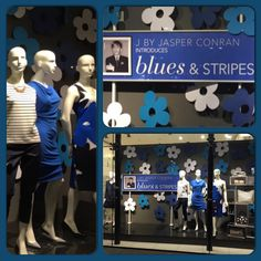 Debenhams Orpington #blues #stripes #jbyjasperconran #flowers #SS15 #windows #visual #debenhams