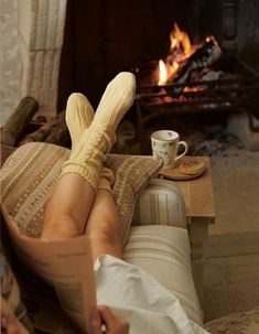 Not that there's much in this photo to copy but I just love the feeling of being so cosy in your living room in front of an open fire.