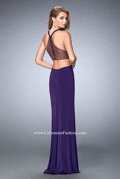 You are sure to feel glamorous and beautiful in La Femme Style #22288 available at Whatchamacallit Boutique